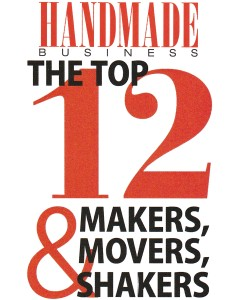 2015 Top 12 Makers Movers Shakers by Handmade Business Magazine