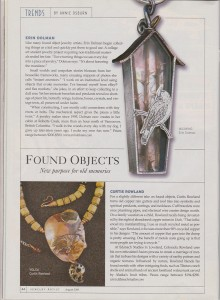 Green Businesses - Found Objects Article - Jewelry Artist Magazine