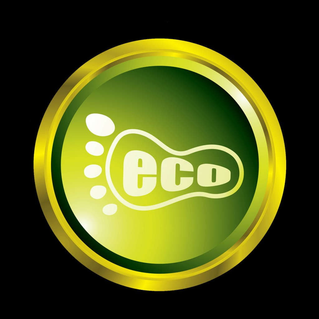 Royalty-Free (RF) Clipart Illustration of a Green Eco Footprint