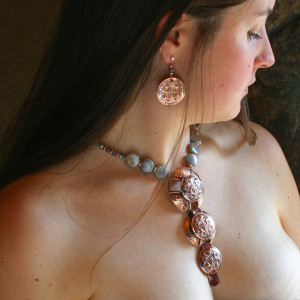 Ildanach Studios Copyrighted Image 2011- Radiance One of a Kind Pectoral Neckwear - Contextual IMG_5349